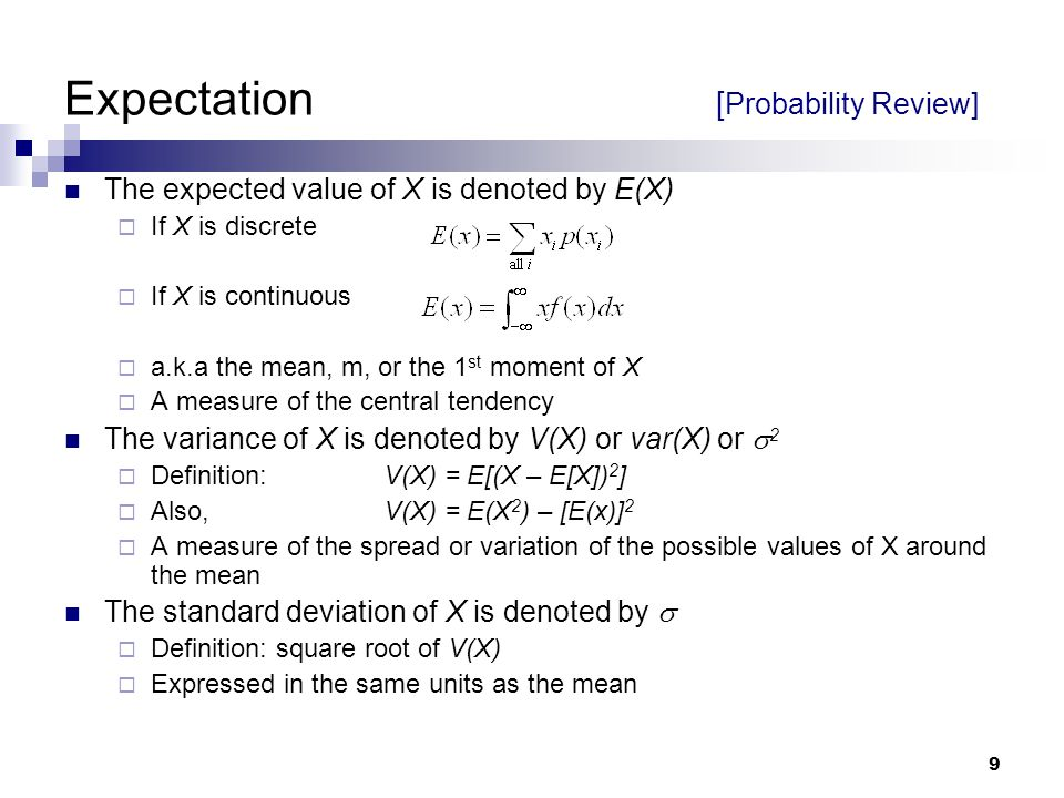 Expectation [Probability Review]